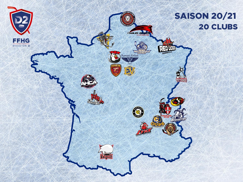 Carte de France de Division 2 20-21
