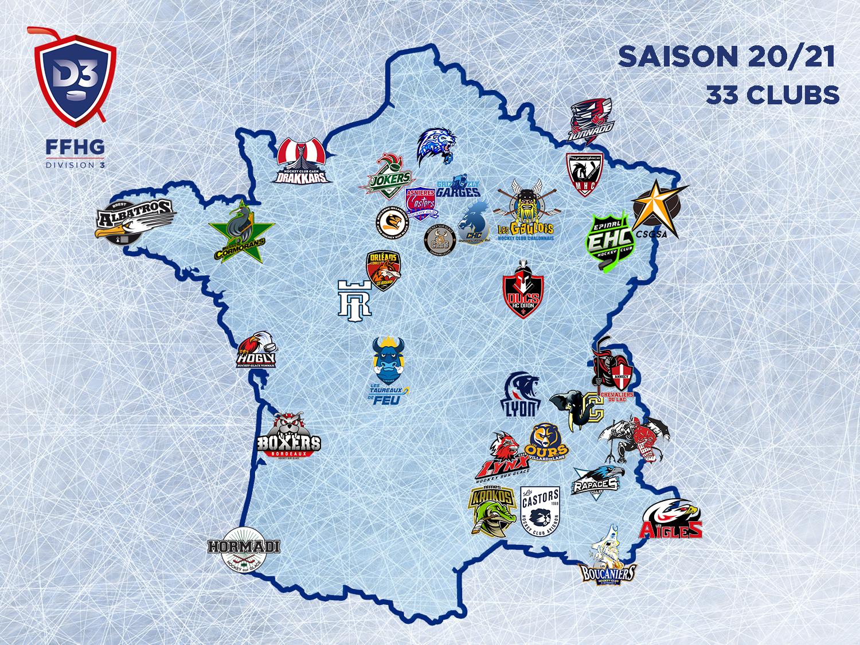 Carte de France Division 3 20-21
