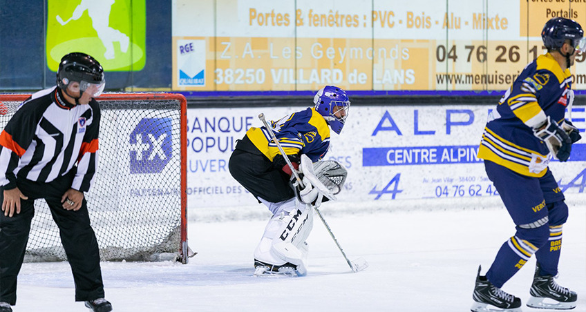 Villard-de-Lans lors du match contre Poitiers