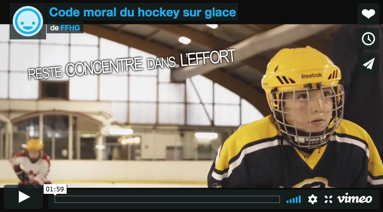 Vidéo du code moral du hockey sur glace