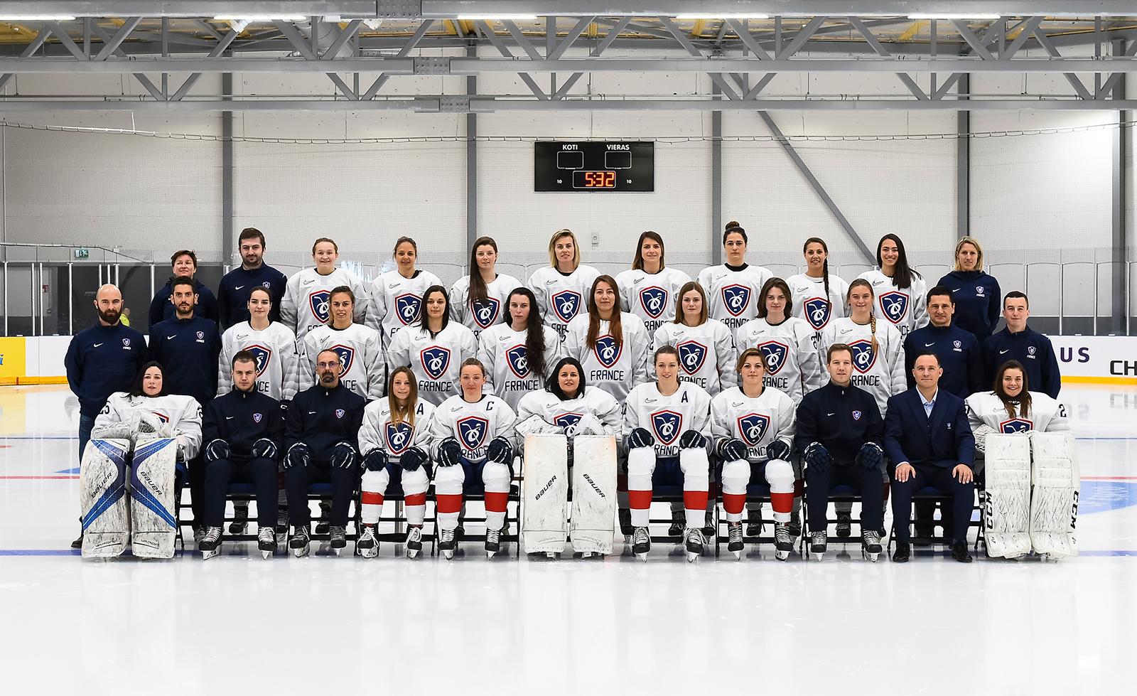 Equipe de France féminine lors du Mondial Elite 2019 d'Espoo