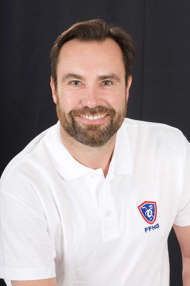 Christophe Renard, entraîneur des gardiennes du Pôle France Féminin