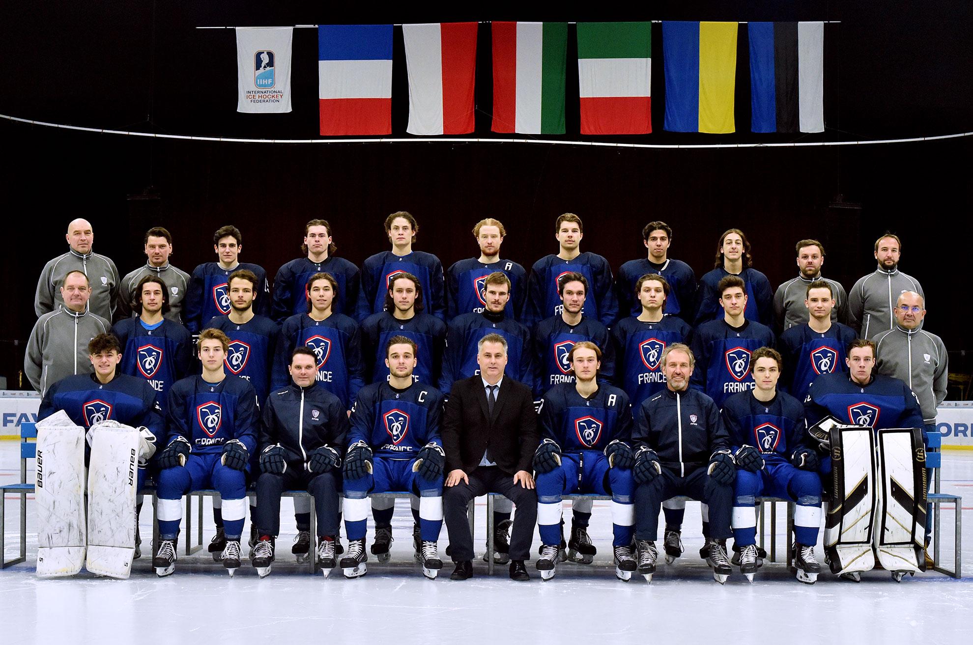 L'EDF U20 Hommes lors du Mondial D1B à 2020 à Kiev