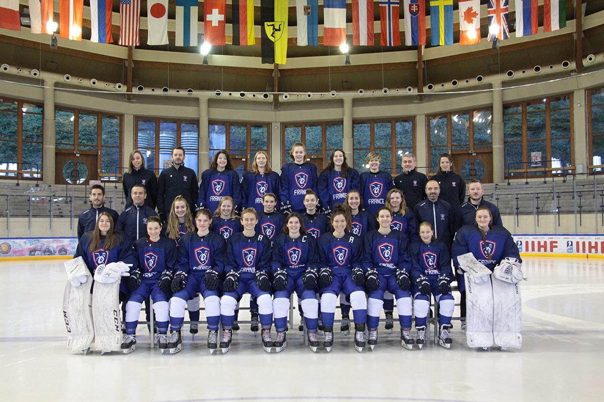 L'EDF U18 Femmes lors du Mondial 2020 à Füssen