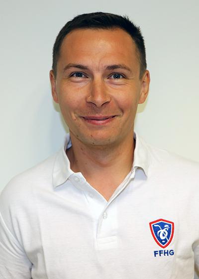 Boris Gelle, responsable matériel des Équipes de France