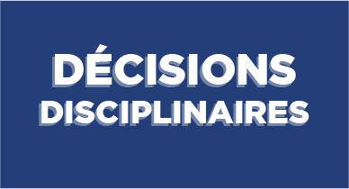 Vignette Décisions disciplinaires