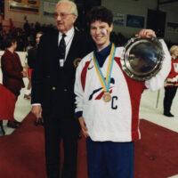 Gwenola Personne et le trophée de 3ème