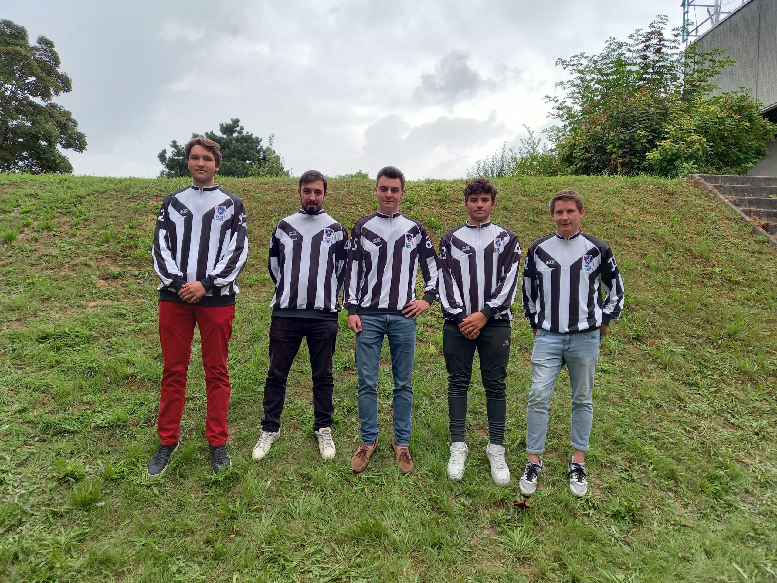 Les nouveaux arbitres du stage de Reims